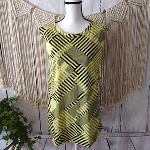 4/$25 Fabletics Yellow Striped Muscle Tank Top XL